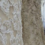 Example of champagne bridal gown