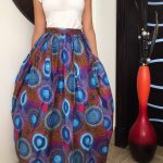 African inspired printed a-line skirt